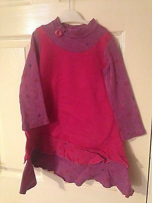 Purple Keedo Dress. Age 4-5 Designer Casual Comfy Dress