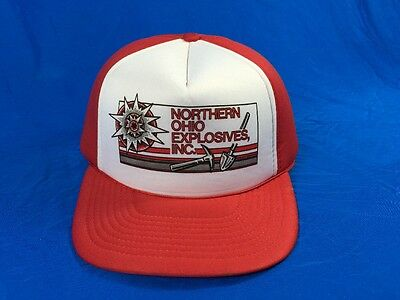 Vintage Advertising Northern Ohio Explosives Snapback Foam Trucker Hat Cap