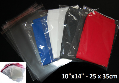 250x350mm Clear Cello Poly T-shirt Clear Garment Plastic Bags Self Seal
