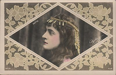 JEANNE HATTO - French Soprano - Original Vintage Postcard by Rautlinger