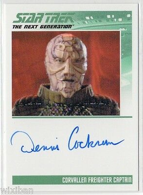 Star Trek TNG Portfolio S2 Autograph Card Ltd DENNIS COCKRUM