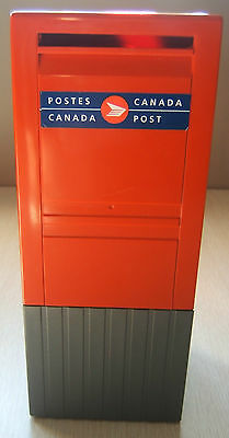 Canada Post Street Corner Mailbox Red Plastic Coin Piggy Bank