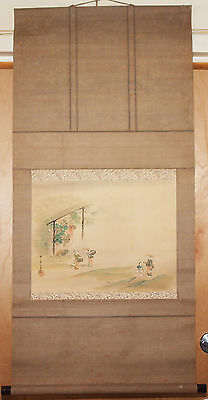 Ancient Japanese Scroll 1826 - 1897 Edo period in the manner of Kishi Chikudo