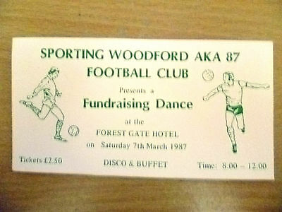 Ticket- SPORTING WOODFORD AKA 87, FOOTBALL CLUB