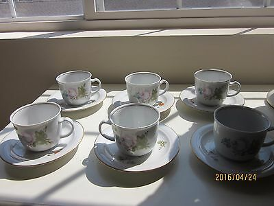 Kahla Cups and Saucers made in Germany set of 6