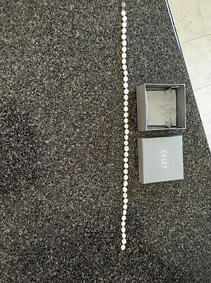 """Zales 8.0-9.0mm Cultured Freshwater Pearl Necklace 18"""" White"""