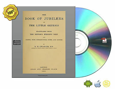 The Book of Jubilees, Ancient, Lost Book ,Little Genesis, Charles, Book On CDROM