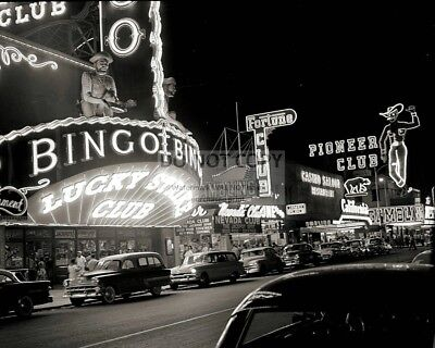 1950s VINTAGE PHOTO OF THE LAS VEGAS STRIP - 8X10 PHOTO (AA-317)