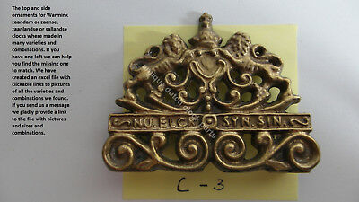 Brass Top Side Ornament Warmink Zaanse Or Zaandam Clock Wall Clock