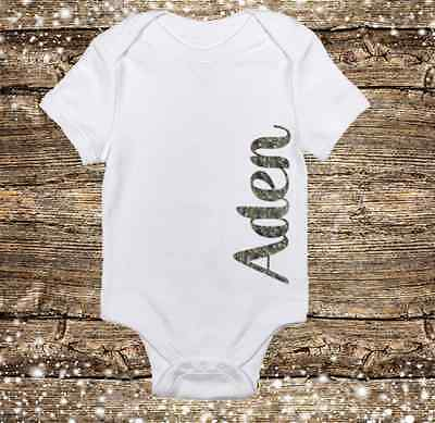 PERSONALIZED NAME CAMO/CAMOUFLAGE Deer Hunting Baby Boy ...