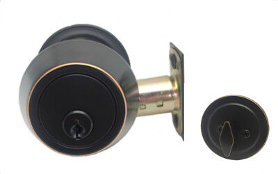 Oil Rubbed Bronze Deadbolt Single Cylinder Lock Keyed Alike Available