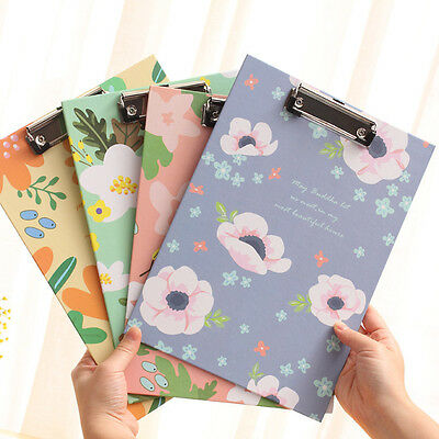 A4 Clipboard Durable With Pen Holder Flowers Clip Board Office Business School