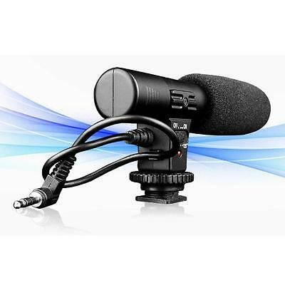 3.5mm Direction Camera Camcorder External Microphone for DSLR Canon Nikon MIC01