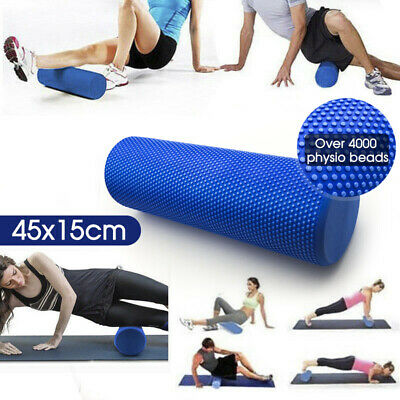 60x15cm New Physio EVA Foam Yoga Roller Gym Back Exercise Home Massage AU Ship