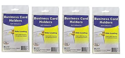 C-Line Self Adhesive Business Card Holders CLI70238 Standard Size Pack of 4