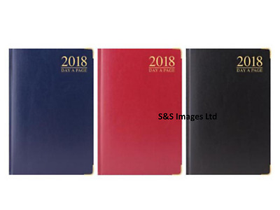 2017 A7 pocket diary day to a page premium quality hard back padded metal corner