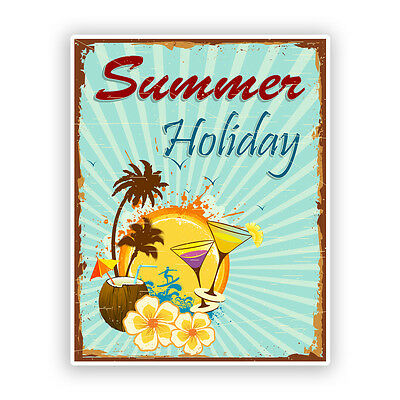 2 x Summer Holiday Vinyl Stickers Travel Luggage #7532