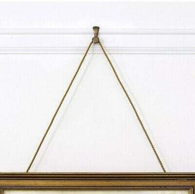 Six Sturdy Hooks for Picture Rail Molding- Perfect Gallery Wall Hangers