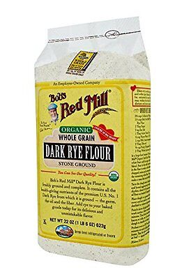 Bobs Red Mill Organic Dark Rye Flour, 22-ounce Pack of 4