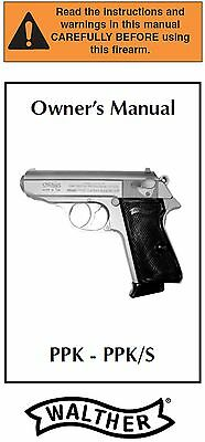Walther PPK PPKS PPK/S Pistol Owners Instruction and Maintenance Manual