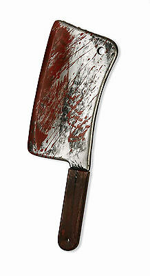 Bloody Weapons Cleaver Knife Plastic Prop Adult Halloween Costume Accessory