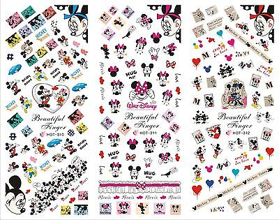 Nail Art Water Transfer Stickers-3 Modelli Adesivi Unghie-Disney MICKEY MOUSE !!