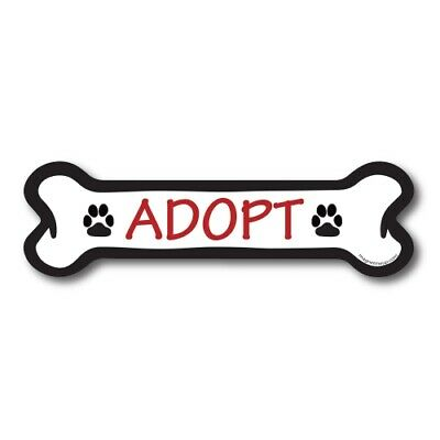 Woof Dog Bone Car Magnet 2x7 inch Red Decal Perfect for Car Truck or Fridge