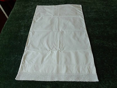 A SUPERB VINTAGE PILLOW CASE withCROCHET LACE EDGE