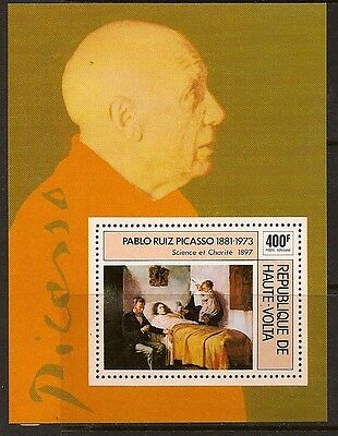 Burkina Faso 1975 Painting Picasso Sc # C222 Mnh