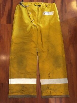 Globe Firefighter Bunker Turnout Pants Vintage 42x28 80's Halloween Costume