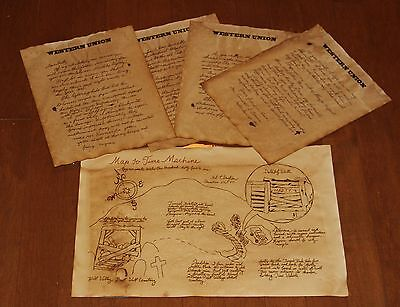 BTTF Back to the Future 3 Prop, Doc's Letter to Marty with Map