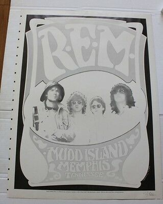 R.E.M. Concert Poster Tennessee 1986 Concert Poster STORY INSIDE signed