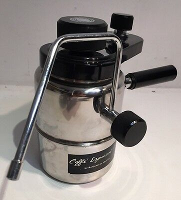 Benjamin & Medwin Stainless Stovetop Caffe Espresso Cappuccino Coffee Maker