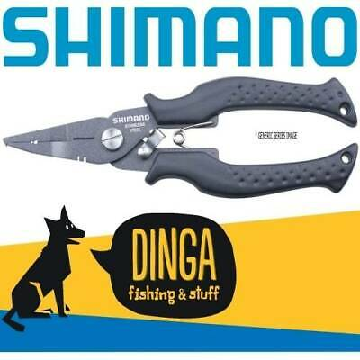 Shimano 6'' Split Ring Power Pliers With Braid Cutter- Black