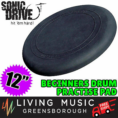 """NEW Sonic Drive 12"""" Natural Rebound Drum Practise Pad for Beginner FREE SHIP"""