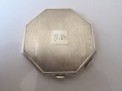 Vintage Birmingham Stirling Silver 1947 Compact Powder Case - Free Postage