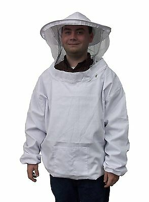 New Large Beekeeping Bee Keeping Suit, Jacket, Pull Over, Smock with Veil M/L