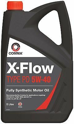 Car Motor Engine Oil 5L COMMA 5W40 PD Fully Synthetic
