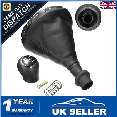 6 Speed Gear Shift Knob Gearstick Gaiter Boot Cover For VW Transporter T5 T5.1