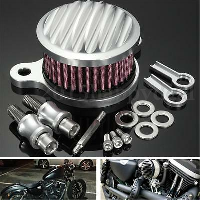 Air Intake Filter Cleaner System For Harley Sportster XL883 XL1200 04-16 Chrome
