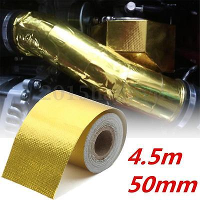 4.5mx50mm Self Adhesive Reflective High Temperature Heat protect Wrap Tape Gold