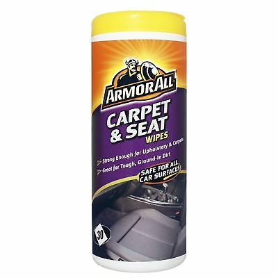 25 X Armour All Car Van Vehicle Carpet & Seat Cleaning Clean Wipes