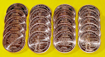"60 New Coins "" 2nd Amendment Design "" 1 oz each .999 Fine Copper Bullion"
