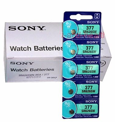 New Sony SR626SW 377 Silver Oxide coin Battery x100 pcs Made in Japan FREE post