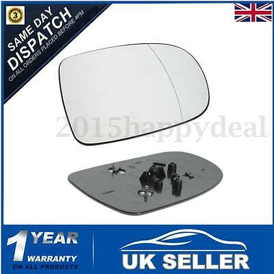 Right Hand Driver Side Heated Door Wing Mirror Glass For VAUXHALL CORSA C 01-06