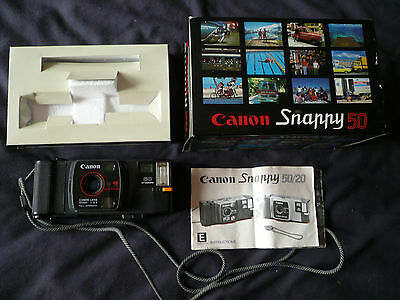 Canon Snappy 50 35mm film Camera with box and manual