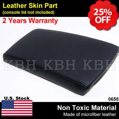 Leather Armrest Center Console Lid Cover Fits for Nissan Altima 2007-2012 Black