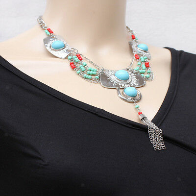 Boho Chic Necklace Vintage Style Bohemian Mexican Gypsy Tassel Necklaces