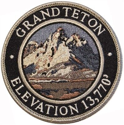 Mountain Patches Grand Teton Embroidered Hiking Patch