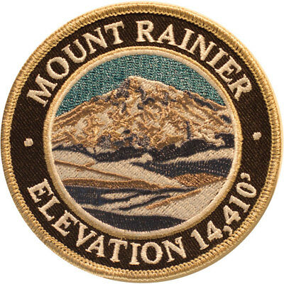 Mountain Patches Rainier Embroidered Hiking Patch